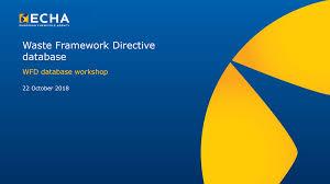 管理EU废物框架指令WFD的数据要求